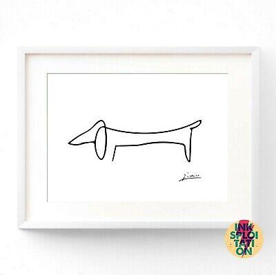 Pablo Picasso Art Prints - Picasso Animals Prints - Sausage Dog - Picasso Dog 2