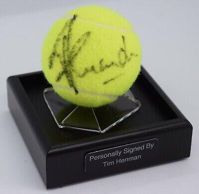 Tim Henman Signed Autograph Tennis Ball Display Case Wimbledon Sport AFTAL COA