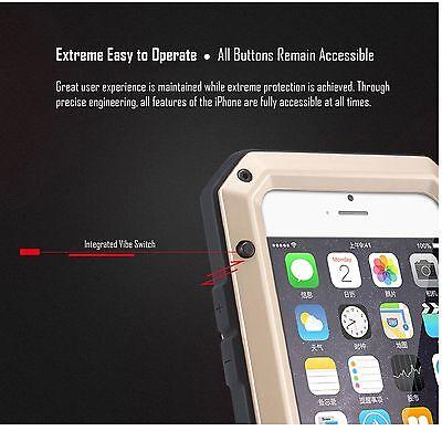 HEAVY DUTY Shockproof Waterproof Aluminum Metal Cover Case Fr iPhone X 11 8 7 6s 9