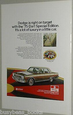 1975 Dodge ad, Dodge Dart Special Edition