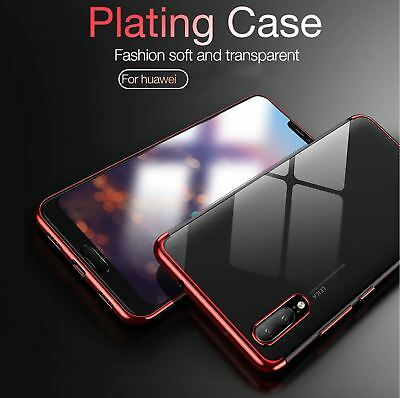 For Huawei P20 Pro P Smart Stylish Hybrid Shockproof Plating Case Silicone Cover 10
