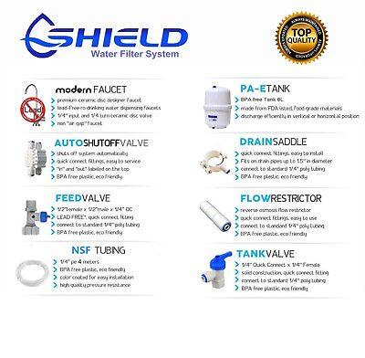 5 Stage Undersink Alkaline Reverse Osmosis Water Filter System 150G RO Membrane 3