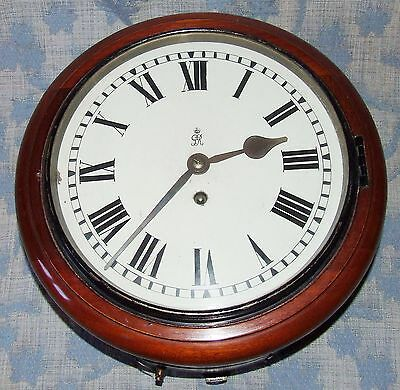 AUTHENTIC Mahogany GPO Chain Fusee Wall Clock with 10 INCH Dial 3