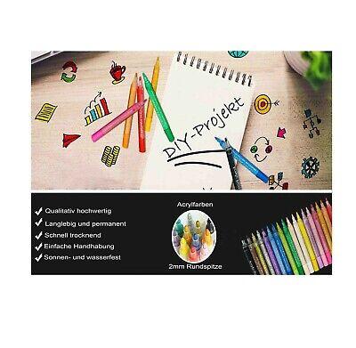 Acrylstifte Marker 18 Farben Set Acrylic Painter Geschenk Filzstift DIY Steine 8