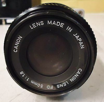NED CAMERA W/CANONON LENS TYPE Y1024CHH FD 50mm 1:1.8 MADE IN JAPAN S/N 112615 4