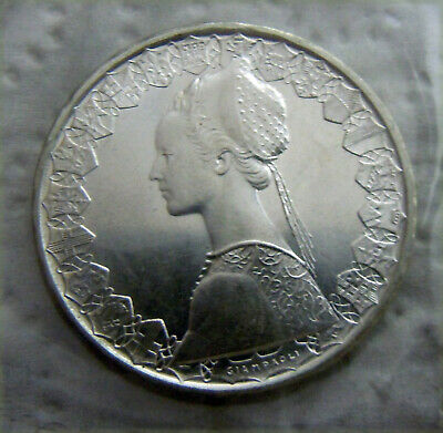 SILVER Coin UNC CHRISTOPHER COLUMBUS/'s SHIPS ITALY 500 LIRE 1968 KM# 98