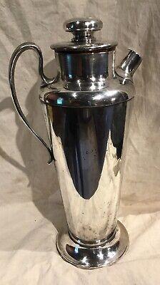 Meriden International Silver Plate No 314 Cocktail Shaker 56 Ounce Art Deco Era 2