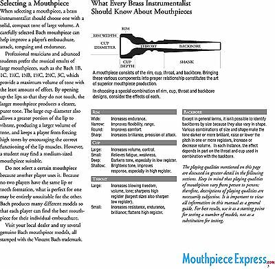 Genuine 24K GOLD RIM /& CUP Bach 5C Trumpet Mouthpiece #10 Backbore /& #27 Throat