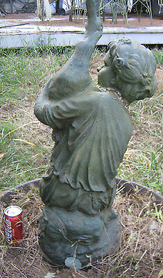 Antique Architectural Water Fountain Cast Iron Flower Garden Statue Sculpture Ny 4
