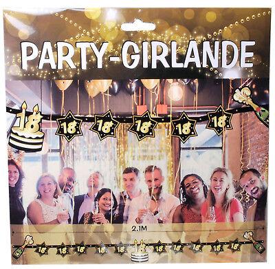Großes Deko Set 18. Geburtstag 18 Jahre Dekoration Party Zubehör Gold Jubiläum 3