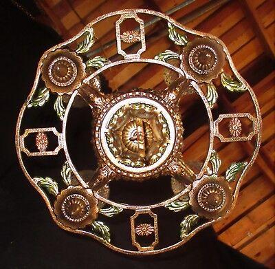 ANTIQUE GOTHIC REVIVAL ART CRAFT DECO CAST METAL CHANDELIER FIXTURE 20's 4