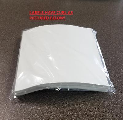 """1000 Value 8.5"""" X 5.5"""" Half Sheet Self Adhesive Shipping Labels 2 Per Sheet"""
