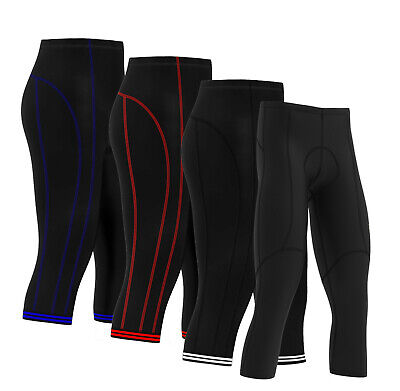 Homme FJS Printemps Eté Gel Rembourré Cyclisme Cycle Gym Pantalons Leggings Collants