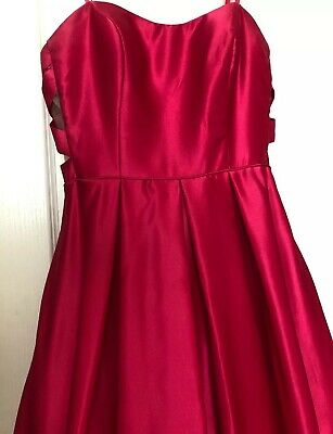 f075a5acf44 ... Dillards Pink Long Ball Gown Prom Dress Strapless Blondie Nites By Stacy  Sklar 9 5