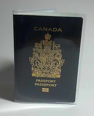 Canadian Canada Clear Plastic Vinyl Passport Cover Protector Holder 2