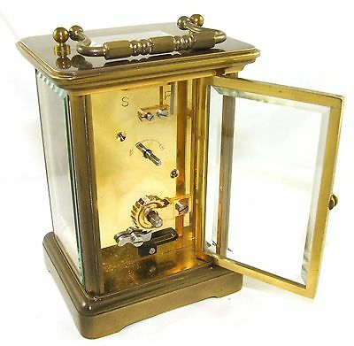 MATTHEW NORMAN LONDON SWISS MADE Brass Carriage Clock with Key : Working (49) 9