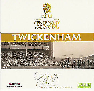 ENGLAND v WALES 2010 RUGBY PROGRAMME 6 FEBRUARY - TWICKENHAM DVD INCLUDED 2