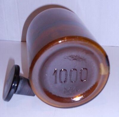 Antike Apothekenflasche braun, mit Glasstopfen, Höhe 21cm, gebraucht, GUT! 5