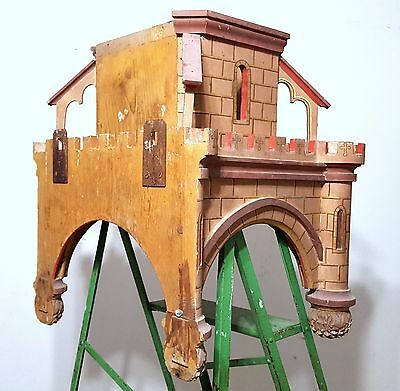 Gothic medieval chateau wall shelf Antique french wood architectural salvage 6