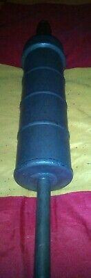große alte SPRITZE Metall, Einlauf, Klistier ca 50 cm lang Durchmesser 10 cm 2