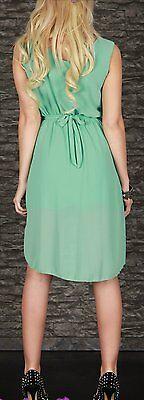 SeXy Miss Damen Vokuhila Chiffon Mini Kleid Glamour Schnalle 34/36/38 Neu mint 5