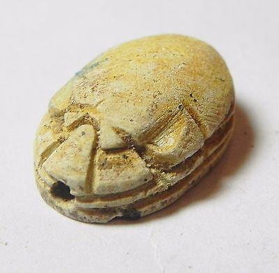 Zurqieh -Af848- Ancient Egypt , 2Nd Intermediate Stone Scarab. 1782 - 1570 B.c 2