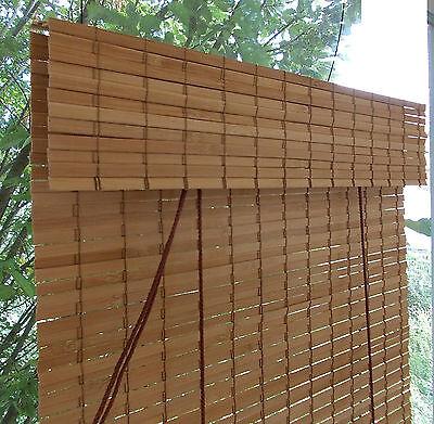 Gut gemocht BAMBUSROLLO NRU NACH Maß mit Blende - Rollo aus Bambus geölt für QU91