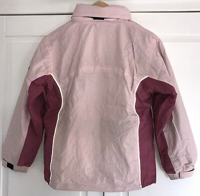 HIGH COLORADO - 2 in 1 - Jacke + Fleecejacke - Gr. 152 - Rosa Schwarz - Kapuze 7