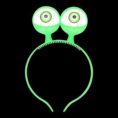 Kids Spooky Alien Halloween Fancy Dress 16x LED Flashing Eyes With Headband