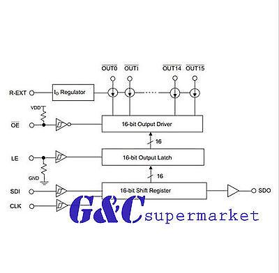 10PCS DM13A DIP24 16 channels constant current LED drivers arduino D51