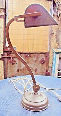 20 Début De Bureau Laiton Ème Ancienne Lampe En IbfvY76ygm