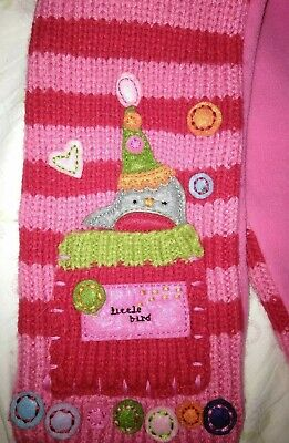 Next Girl's Pink/red Scarf Age 3-6 Months Mois 2