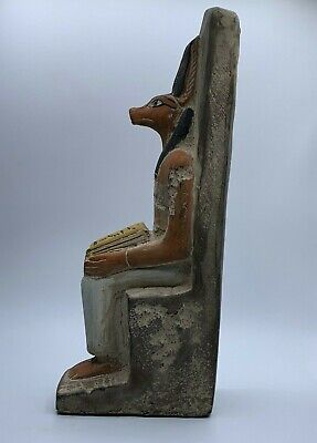 RARE EGYPTIAN EGYPT ANTIQUES ANUBIS God Deity Dog STATUE Carved 3.Kg STONE BC 9