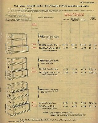 Rare 1915 Globe Wernicke® Sectional Bookcase Price List! Please Read Ad Closely! 2