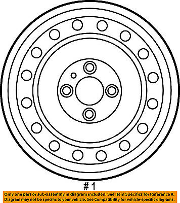 Genuine 2007 2012 Nissan Sentra Steel Wheel Oem New 40300 9ad0a