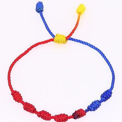 nuevo estilo 18de9 32281 PULSERA ROJA DE 7 nudos de la suerte para hombre o mujer de hilo bracelets