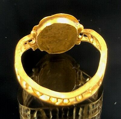 Ancient Roman Gold Ring; Open Work Swirls; 100 Bc - 200 Ad; Elegant & Wearable! 3
