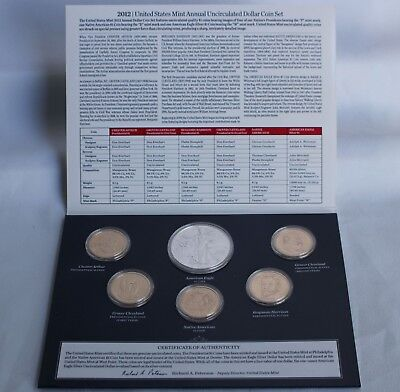 2012 US Mint Annual Uncirculated Dollar 6 Coin Set ASE Presidents Sacagawea $1 5