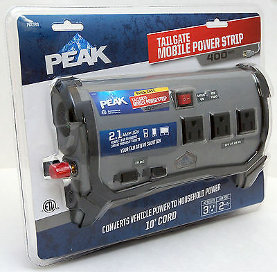 SEALED NEW Peak PKCOBO Tailgate 400w Watts Car RV Mobile POWER INVERTER Strip