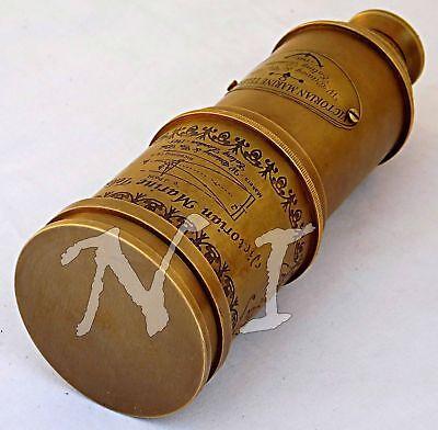 "Antique Maritime Telescope 18"" Marine Nautical Vintage Brass Spyglass Scope Gift 2"
