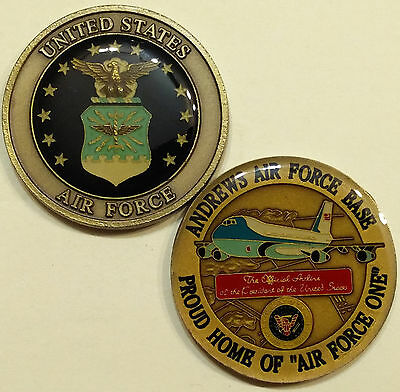 """3.75/"""" X 5/"""" size /""""Home of Air Force One/"""" Andrews A.F.B fire patch"""