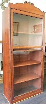 ANTIQUE CHEIMIST SHOP DISPLAY CABINET LIBRARY BOOKCASE COLLECTORS CABINT c1890 2