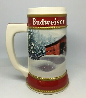 2019 Budweiser Holiday stein beer mug frm annual Christmas series WINTER PASSAGE 8