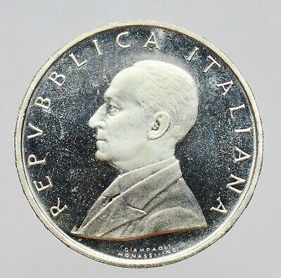 ITALIA 500 LIRE 1974 argento CENTENARIO DELLA NASCITA GUGLIELMO MARCONI  FDC ! 2