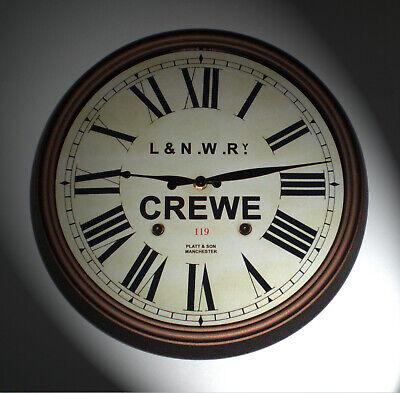 L&NWR London & North Western Railway, Station Wall Clock, Crewe Station 2