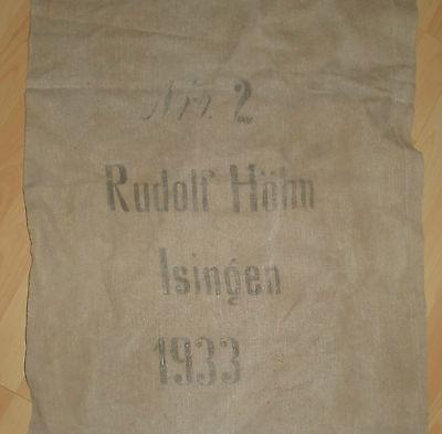 Leinensack korn leinen sack alt Getreidesack dat.1933 antik top nostalgie deko 3
