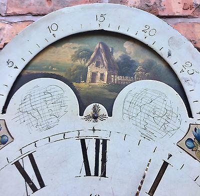 Oak & Mahogany Longcase Grandfather Clock Rolling Moon Robert jones Conwy 12