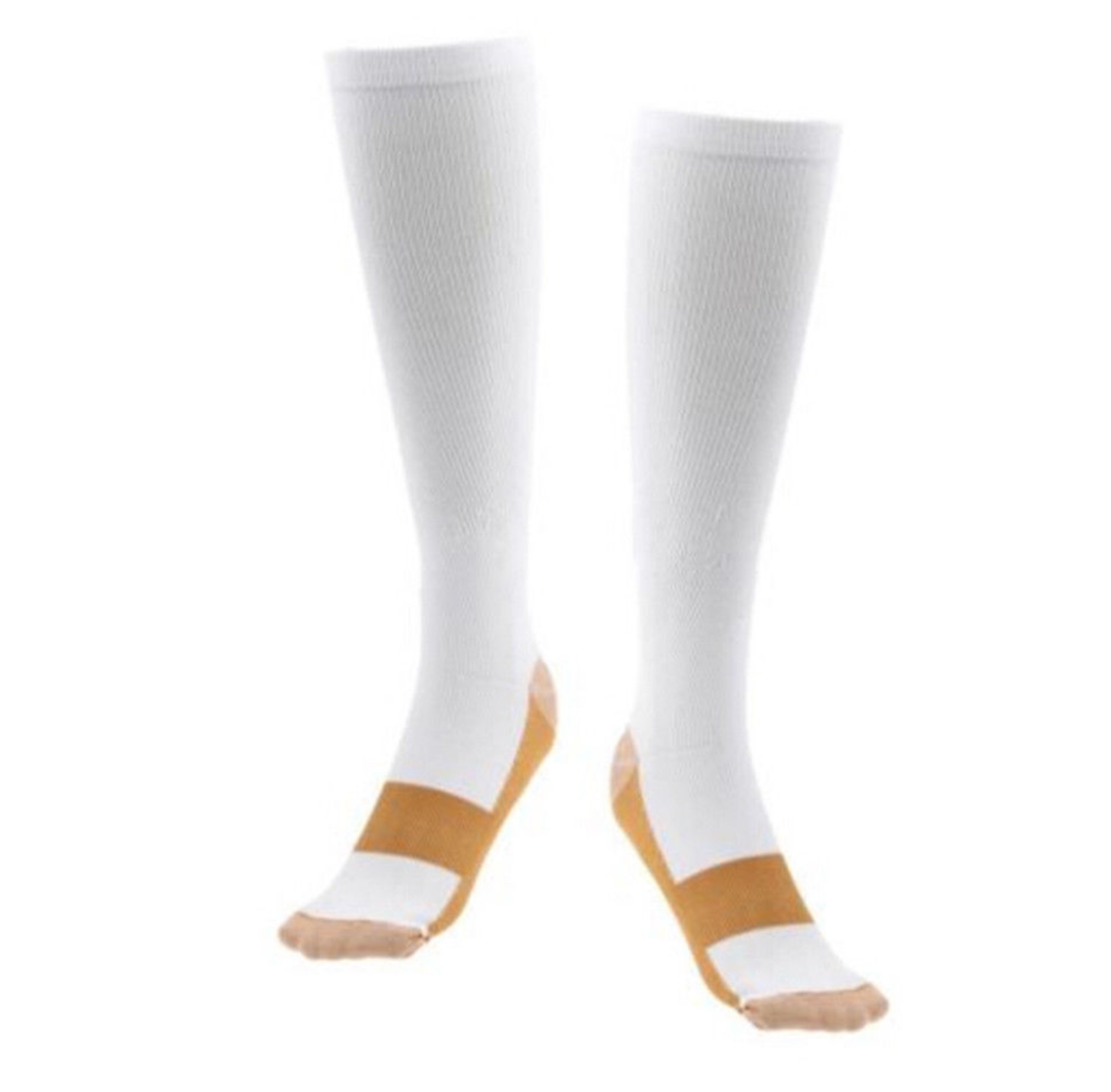 (5 Pairs) Copper Compression 20-30mmHg Graduated Support Socks Mens Womens S-XXL 8