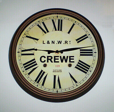 L&NWR London & North Western Railway, Station Wall Clock, Crewe Station 3