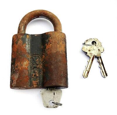 Antique Padlock Soviétique. USSR / Ссср .Condition of Marche. with 3 Keys 2